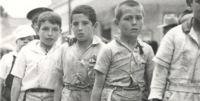 Niños republicanos exiliados